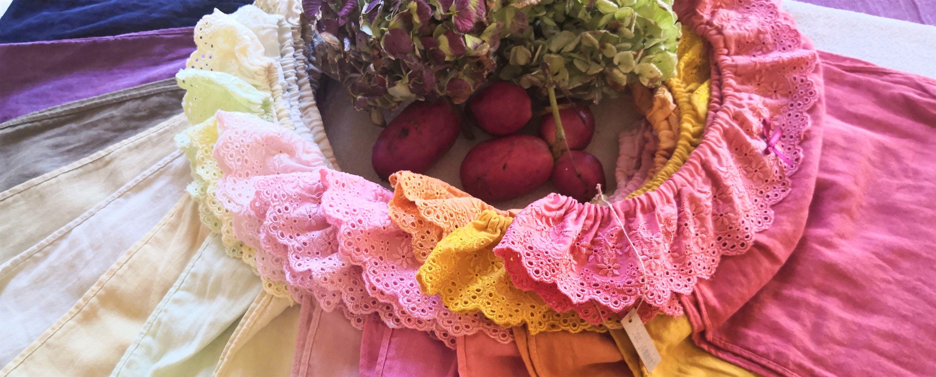 地球と繋がる草木染めの店 【エーデ】布ナプキンや肌着、女性を緩め温める商品を鳥取から全国にお届け